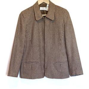 Liz Claiborne blazer 12P tweed wool blend zipper